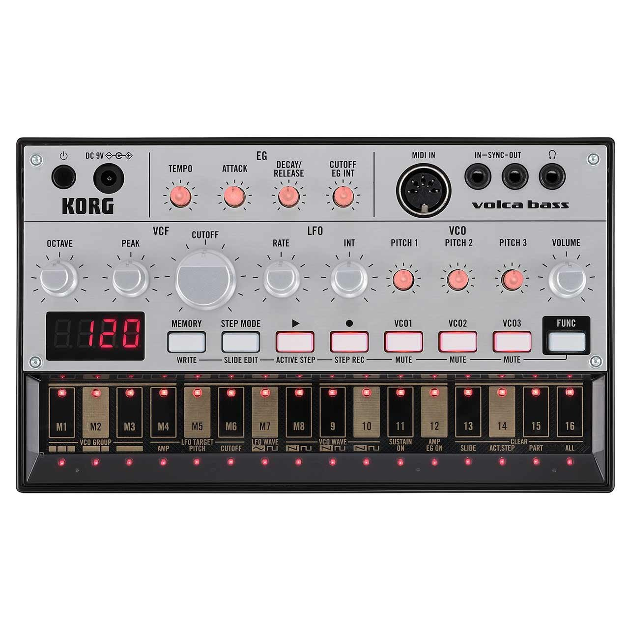Korg Volca Bass Analog Bass Synthesizer & Sequencer