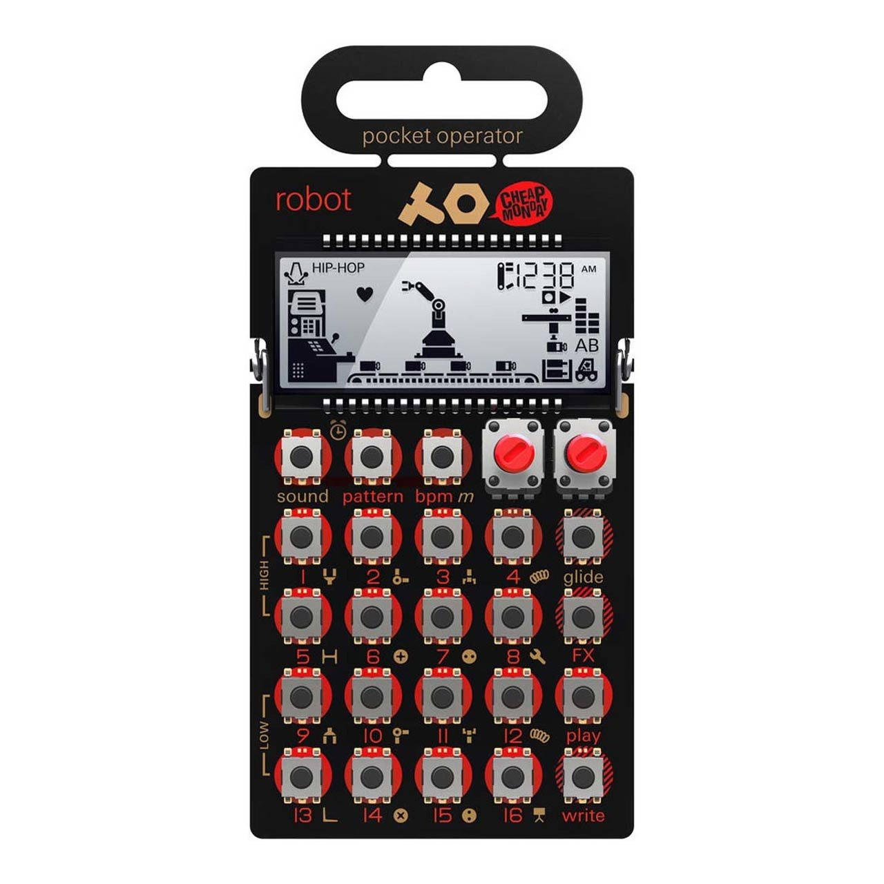 Desktop Synthesizers - Teenage Engineering PO-28 Robot Pocket Operator