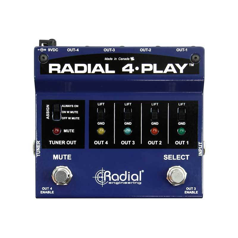DI Boxes - Radial Engineering 4-Play DI For Multi-Instrumentalists