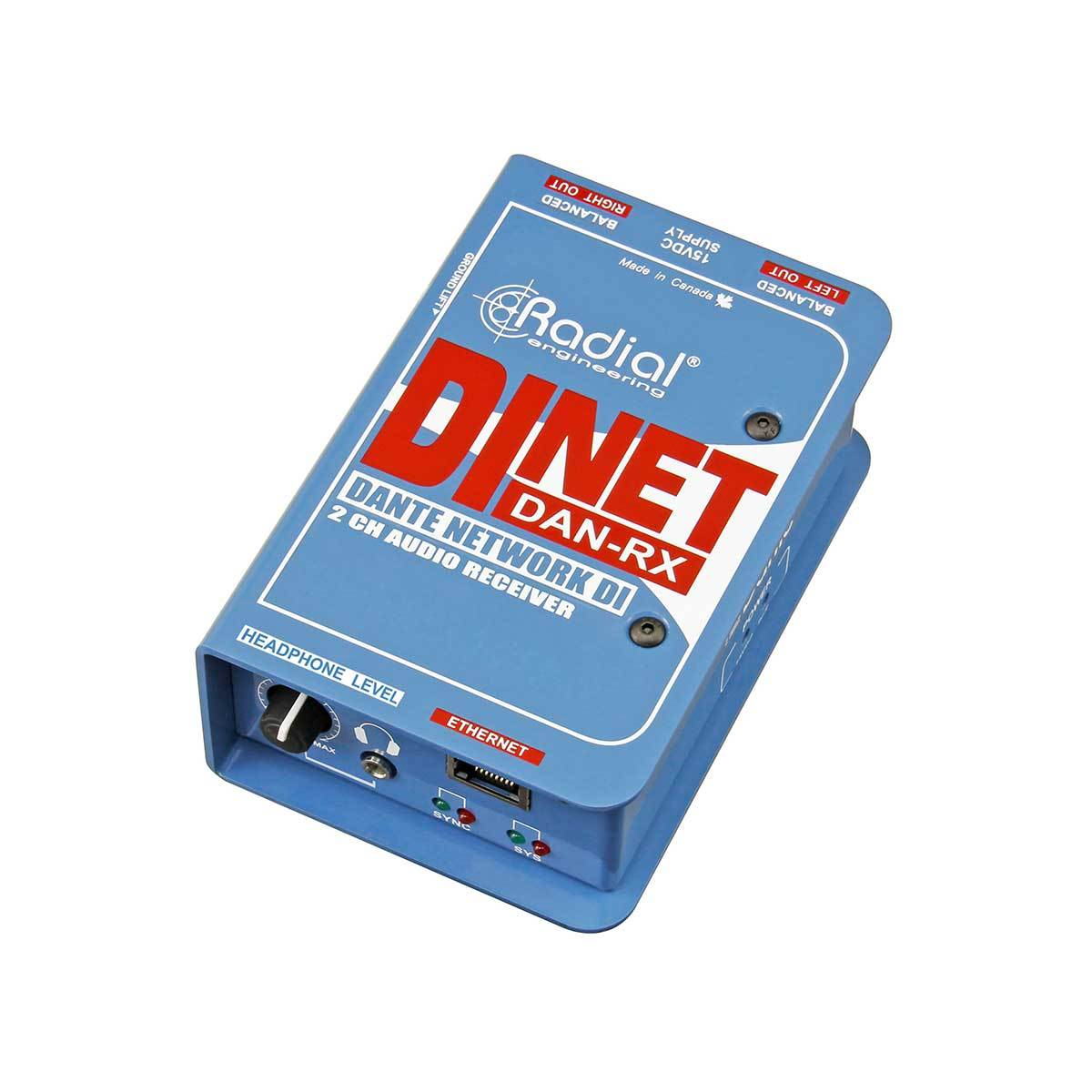 DI Boxes - Radial Engineering DiNET DAN-RX - Dante Enabled DI Receiver
