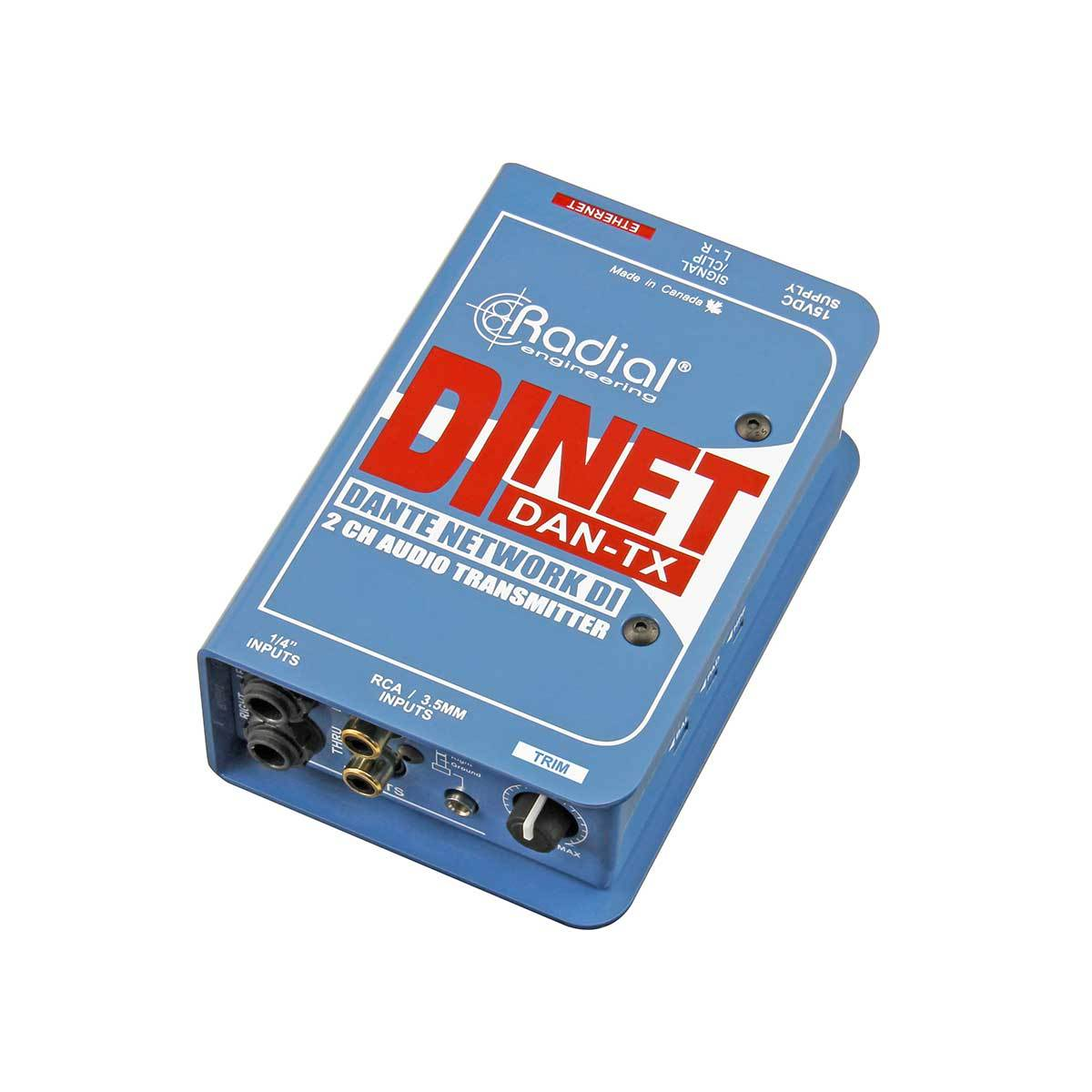 DI Boxes - Radial Engineering DiNET DAN-TX - Dante Enabled DI Transmitter