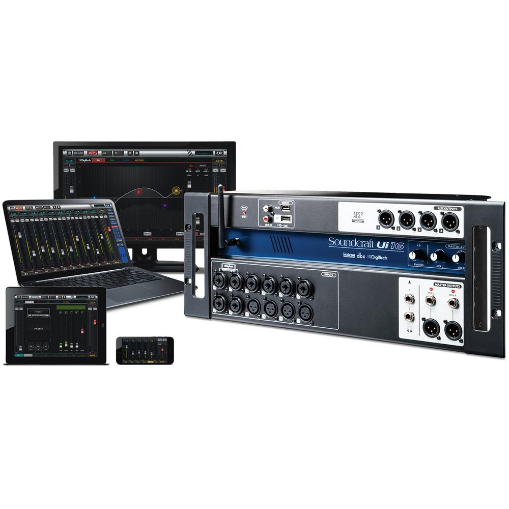 soundcraft ui16 16 input remote controlled digital mixer sounds easy. Black Bedroom Furniture Sets. Home Design Ideas