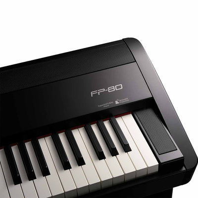 Digital Pianos - Roland FP-80 BLACK Digital Piano With Ivory Feel-S Weighted Keyboard