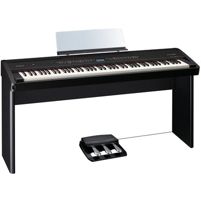 Digital Pianos - Roland FP-80 BLACK Digital Piano With Stand, Pedal, & Bench