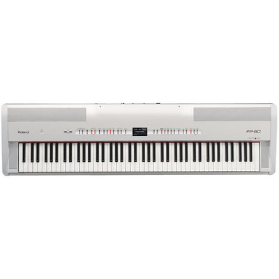 Digital Pianos - Roland FP-80 WHITE Digital Piano With Stand, Pedal, & Bench