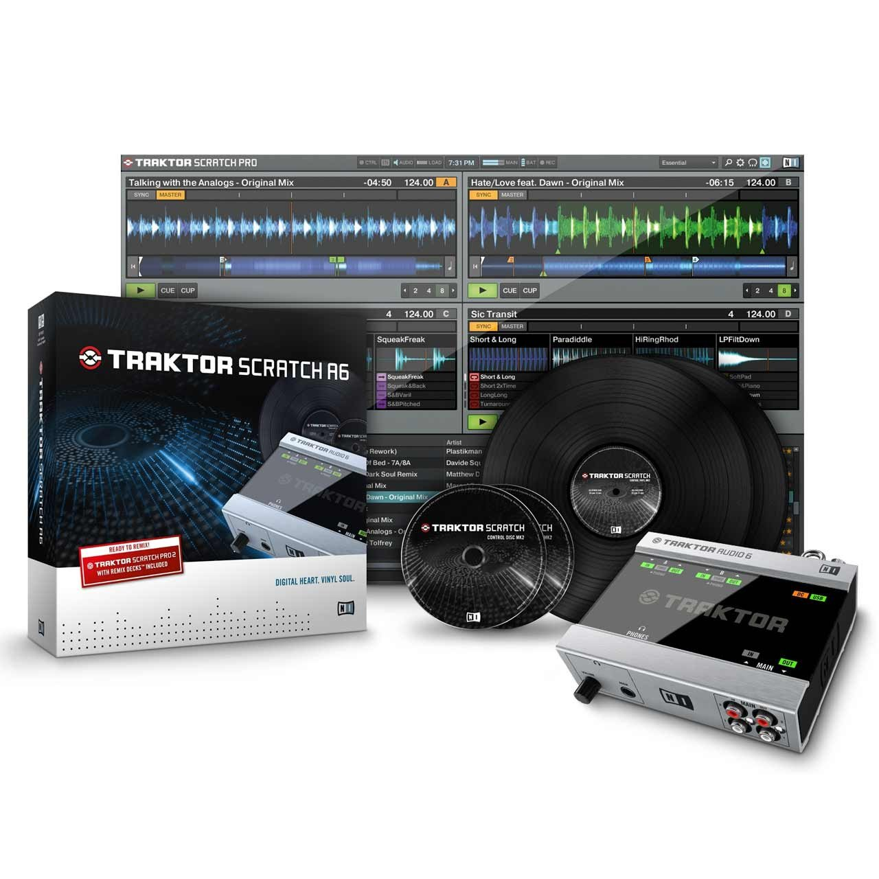 DJ Audio Interfaces - Native Instruments Traktor Scratch A6 Digital DJ Vinyl System