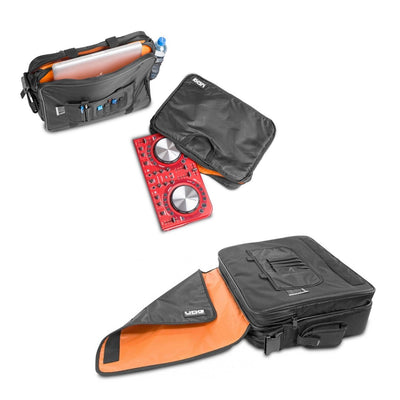 "DJ Bags & Cases - UDG Ultimate CourierBag DeLuxe 17"" Black, Orange Inside - SKU: U9490BL/OR"