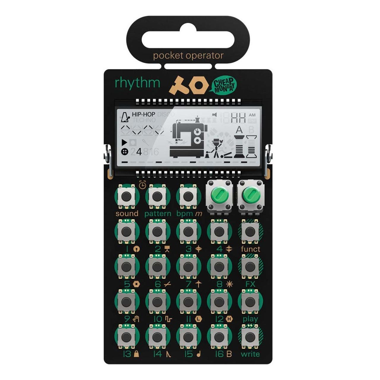 Drum Machines - Teenage Engineering PO-12 Rhythm Pocket Operator