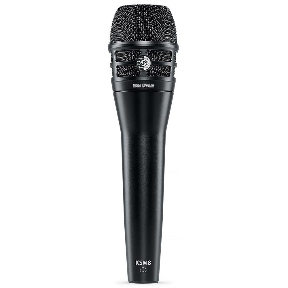Dynamic Microphones - Shure KSM8 DualDyne Dynamic Hand-held Vocal Microphone BLACK
