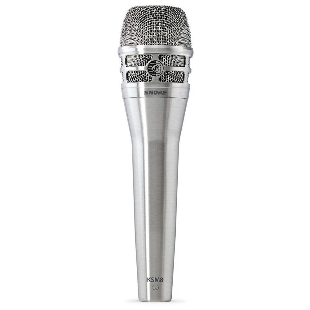 Dynamic Microphones - Shure KSM8 DualDyne Dynamic Hand-held Vocal Microphone BRUSHED NICKEL