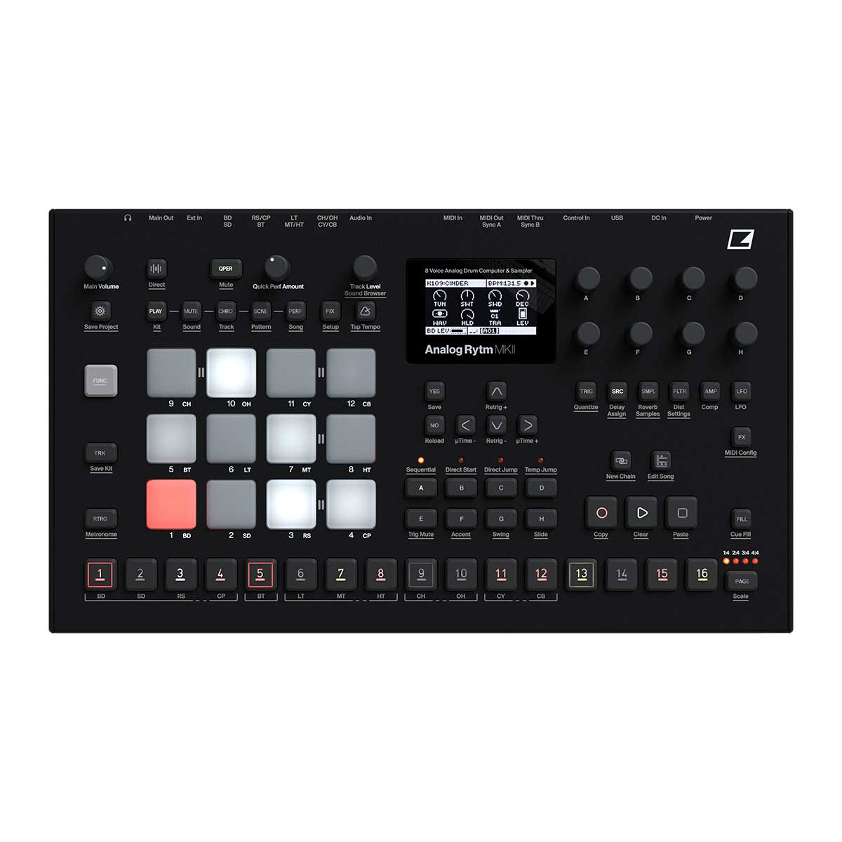 Elektron Analog Rytm MKII Black (2020) Drum Machine