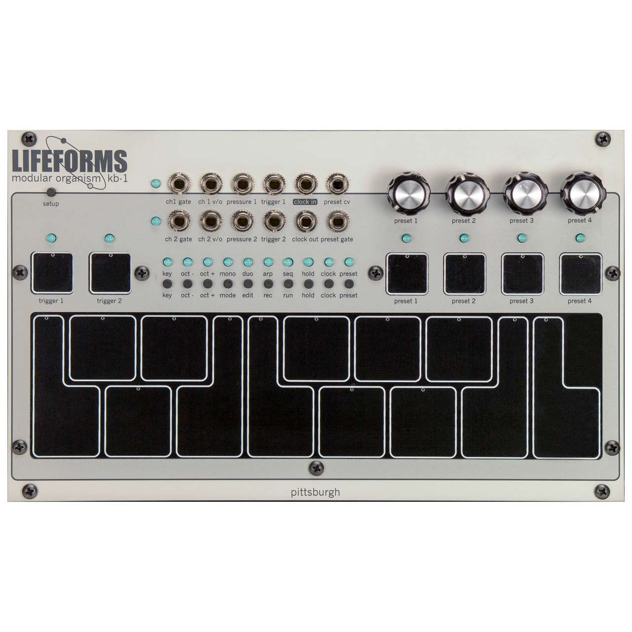 Eurorack Modules - Pittsburgh Modular Lifeforms KB-1 - Pressure Sensitive Keyboard Controller