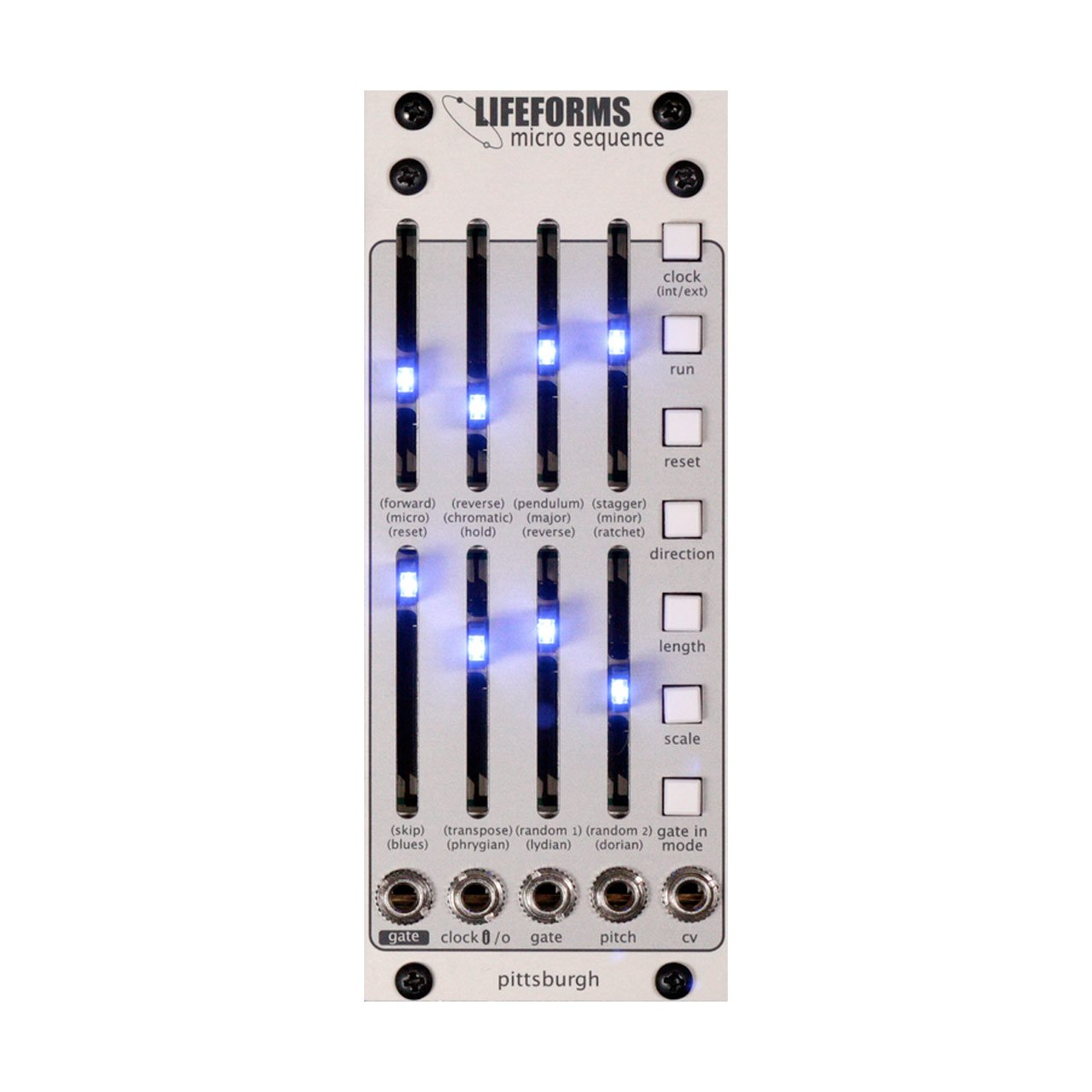 Eurorack Modules - Pittsburgh Modular Lifeforms Micro Sequence - 8 Step Programmable Sequencer