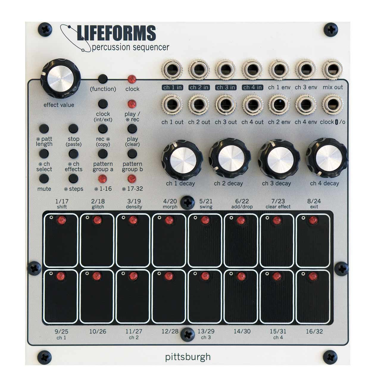 Eurorack Modules - Pittsburgh Modular Lifeforms Percussion Sequencer Eurorack Module