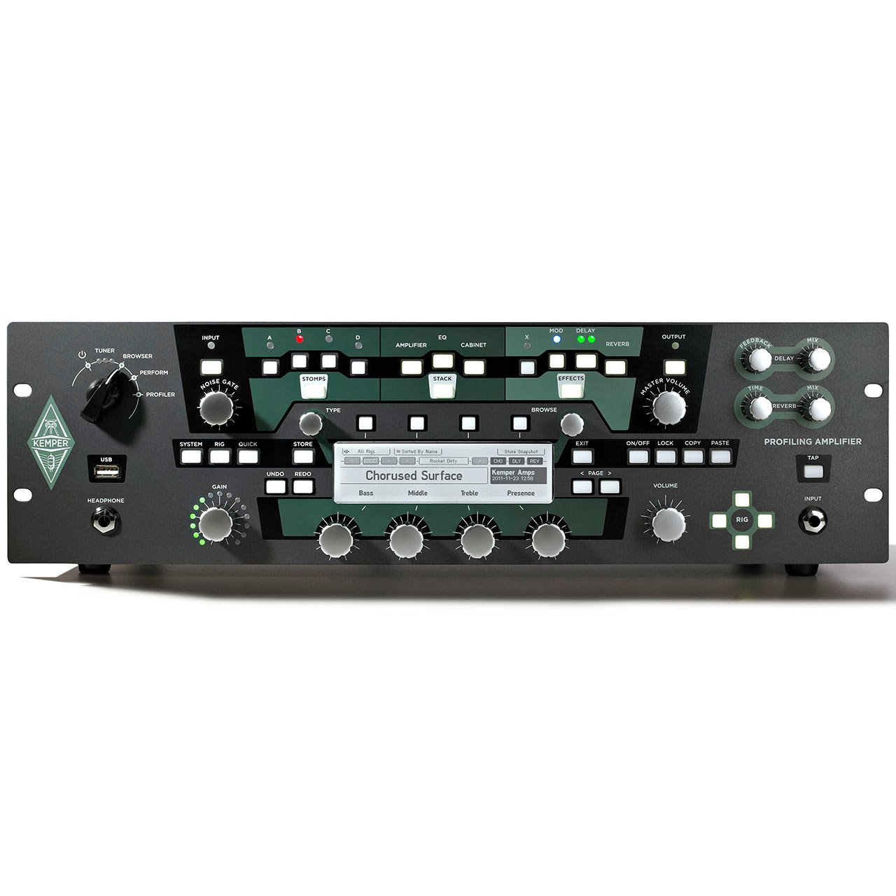 Guitar Amplifiers - Kemper Profiler Rack - Rack Mount Profiling Amplifier