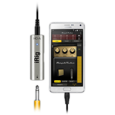 Guitar Audio Interfaces - IK Multimedia IRig HD-A Digital Guitar Interface For Android