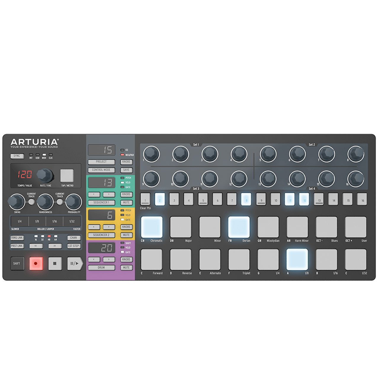 Hardware Sequencers - Arturia BeatStep Pro Black - Limited Edition Performance Sequencer