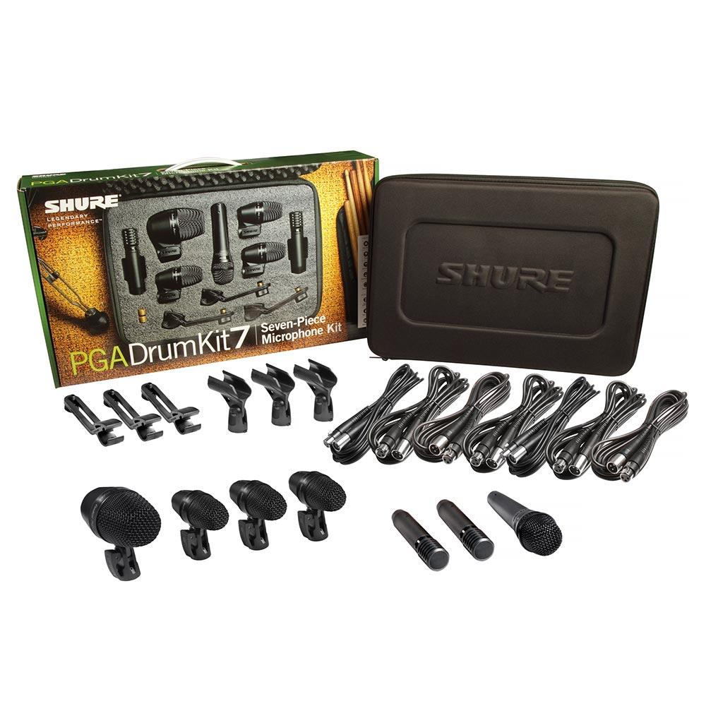 Instrument Microphones - Shure PGADRUMKIT7 PGA 7 Piece Drum Microphone Kit