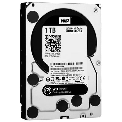 Internal Hard Drives - Western Digital Black Caviar 3.5 Inch 7200 Rpm Hard Drive 1 TB - WD1003FZEX