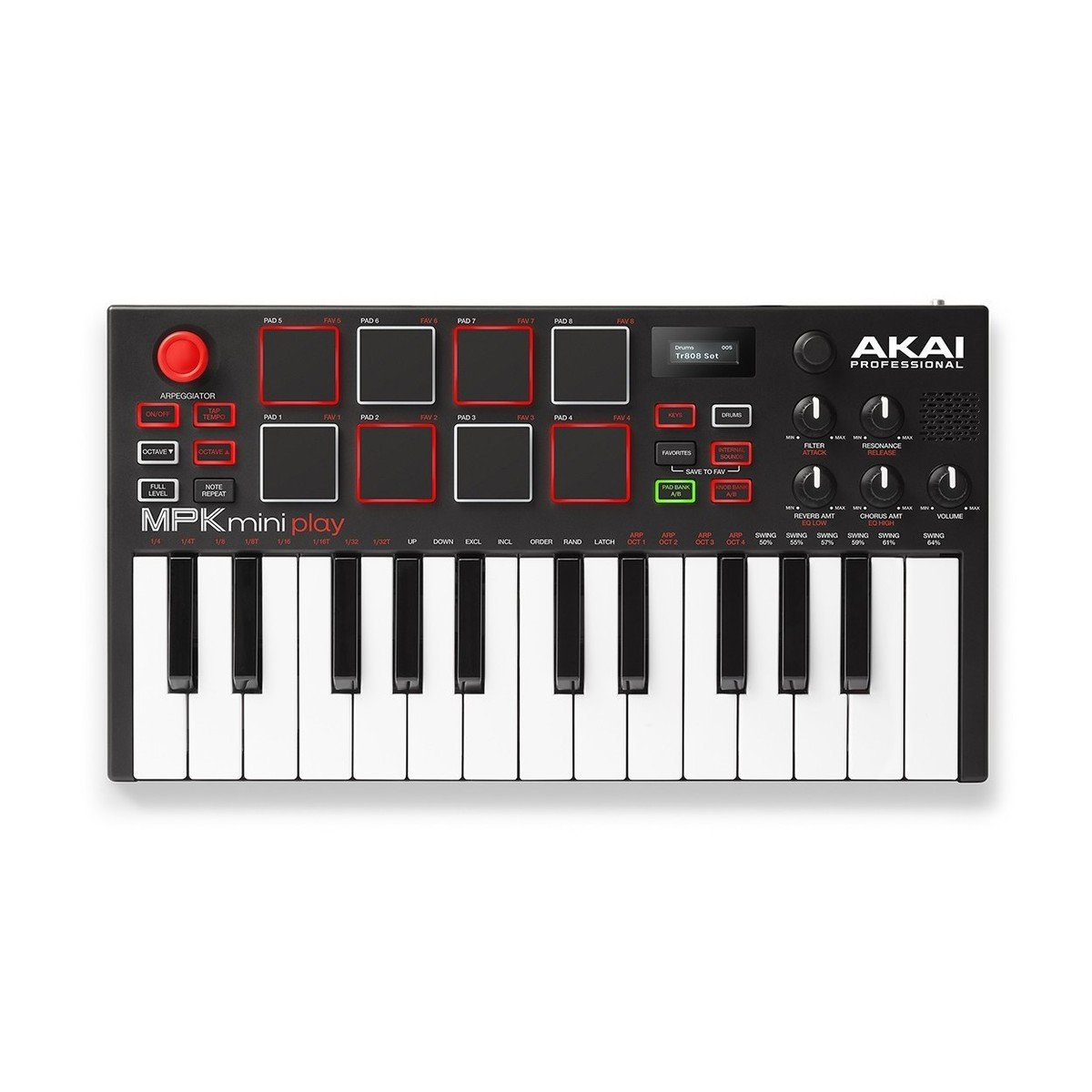 Akai MPK Mini Play | MIDI Keyboard with Built-in Speakers and USB Pad Controller