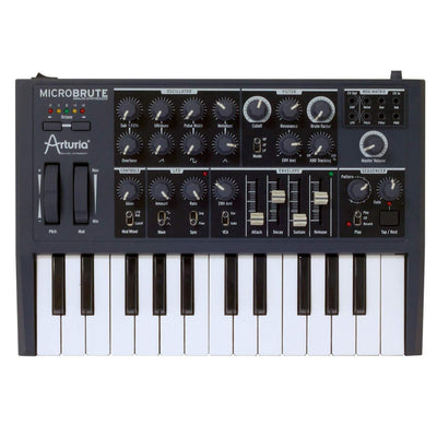Keyboard Synthesizers - Arturia MicroBrute 25 Note Monophonic Analogue Synthesizer