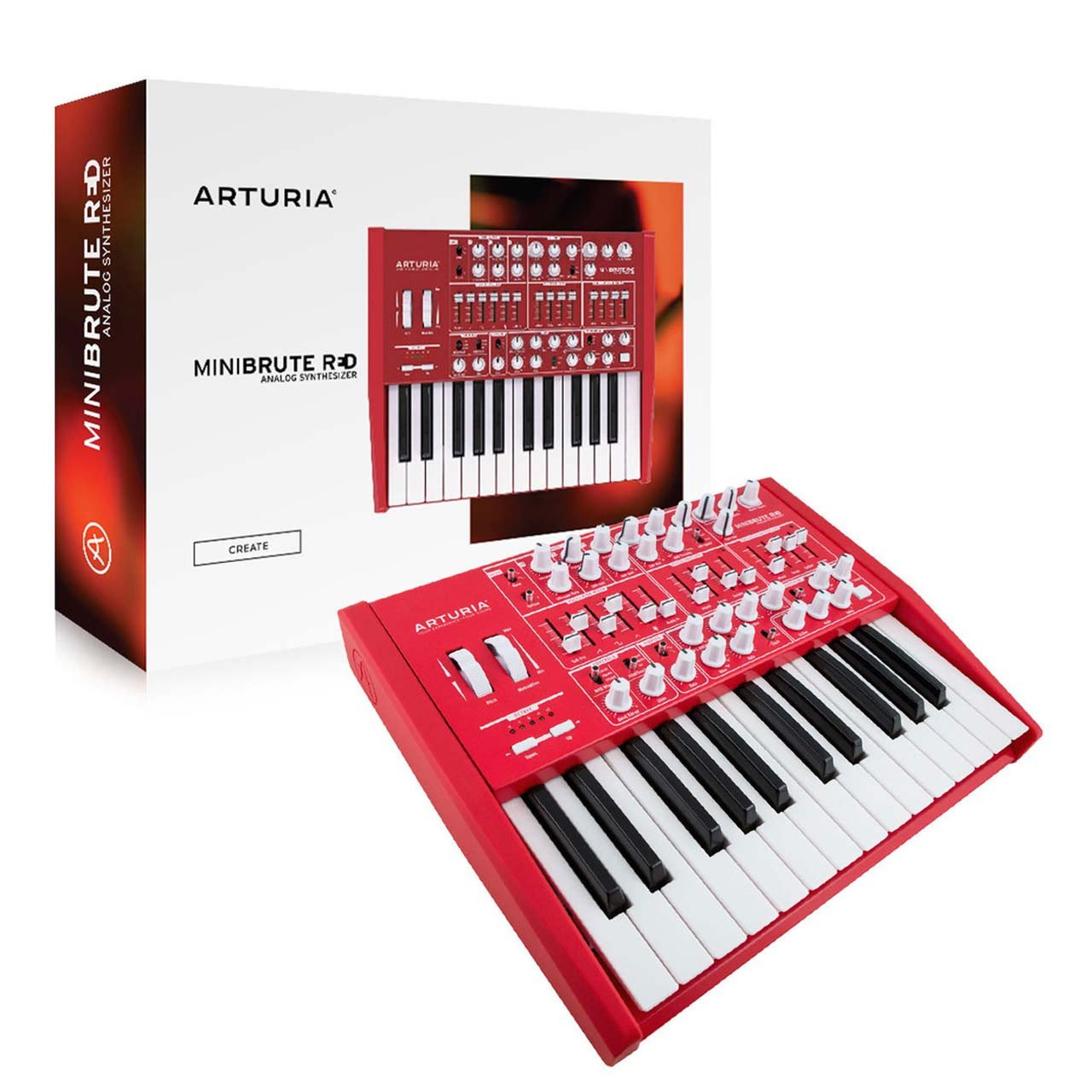 Arturia MiniBrute Red Analog Synthesiser