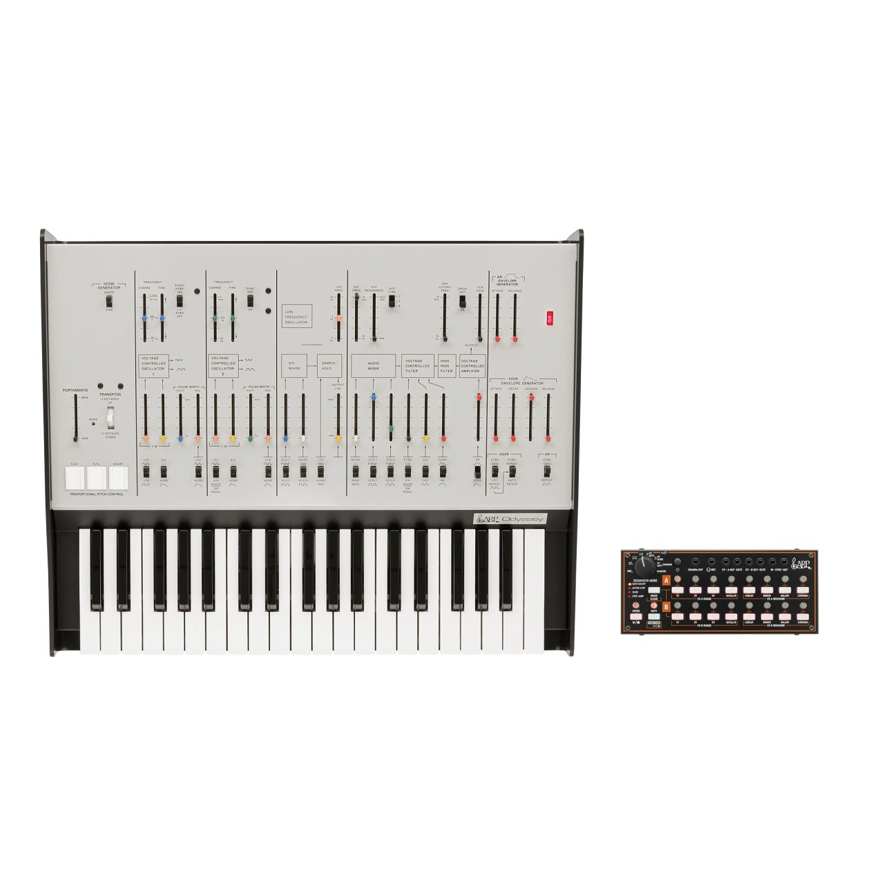 Keyboard Synthesizers - Korg ARP Odyssey FS REV1 [White] Duophonic Synthesiser W/ FREE Korg SQ1
