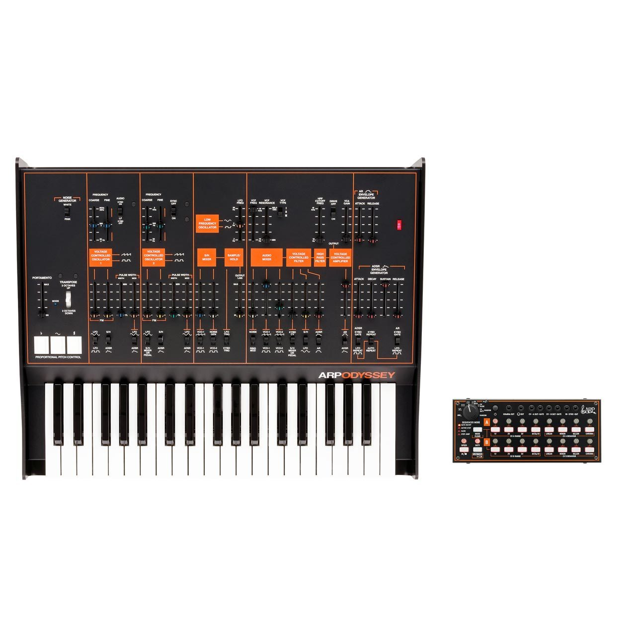 Korg ARP Odyssey FS REV3 [Black/ Orange] Duophonic Synthesiser w/ FREE Korg SQ1