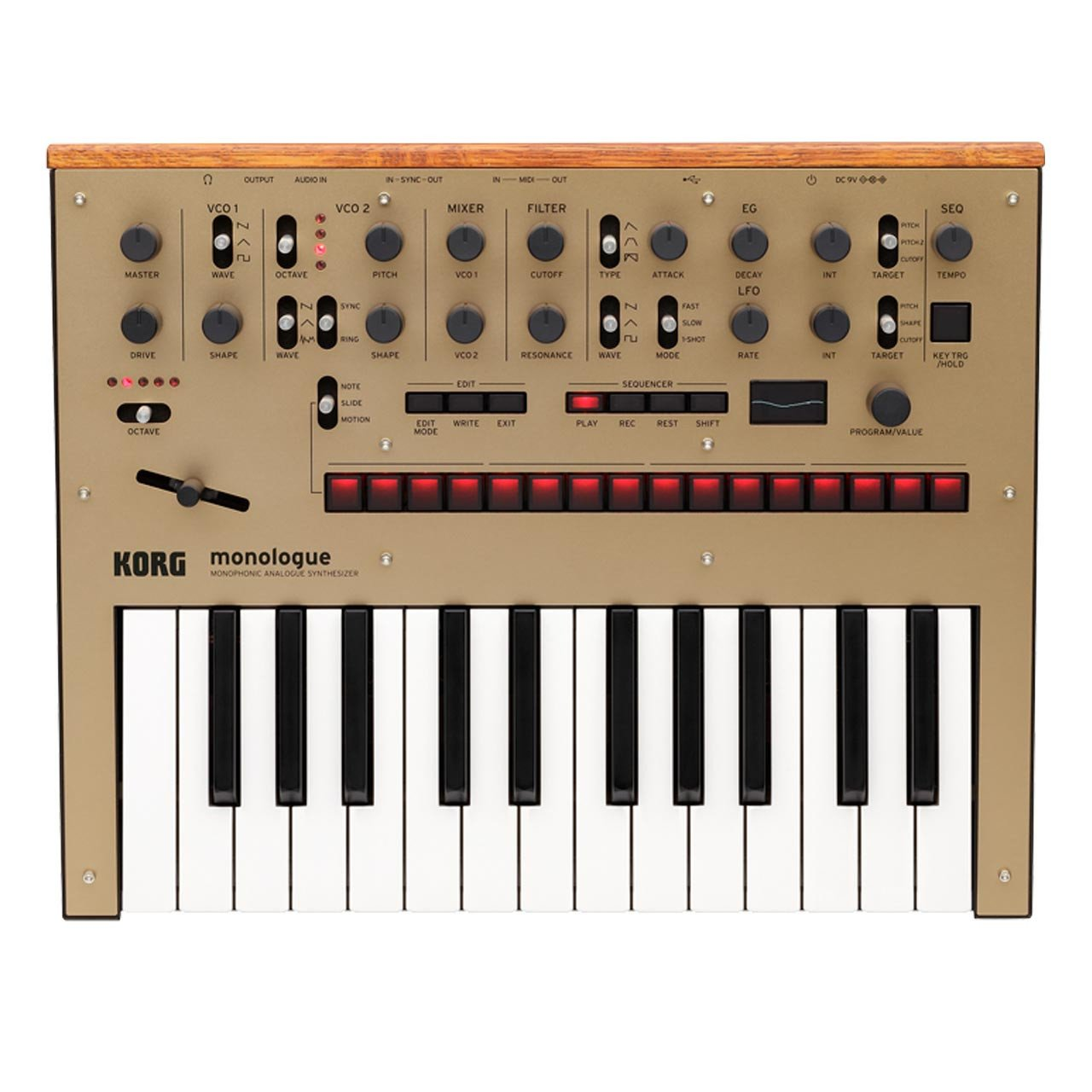 Keyboard Synthesizers - Korg Monologue Monophonic Analogue Synthesizer GOLD