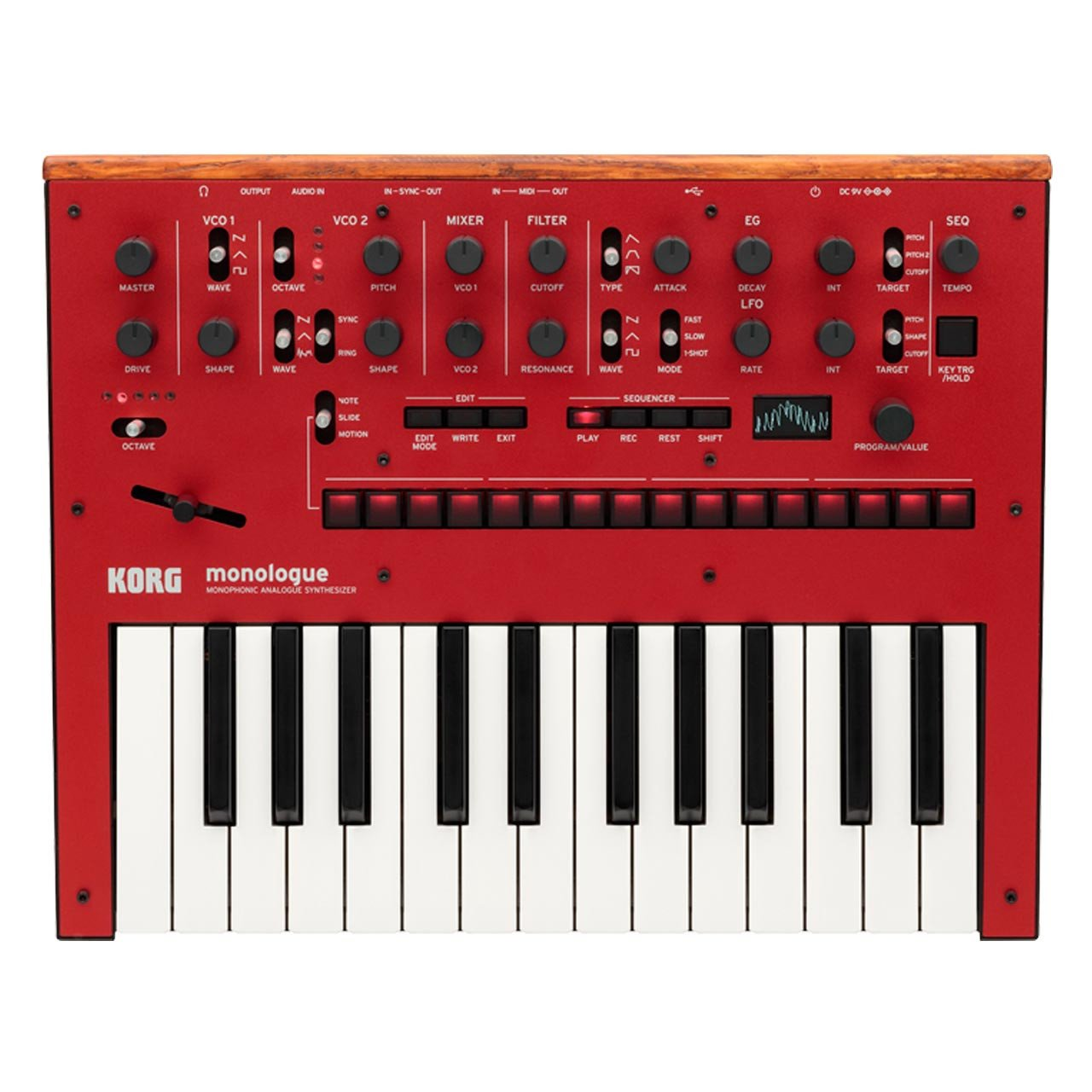 Keyboard Synthesizers - Korg Monologue Monophonic Analogue Synthesizer RED