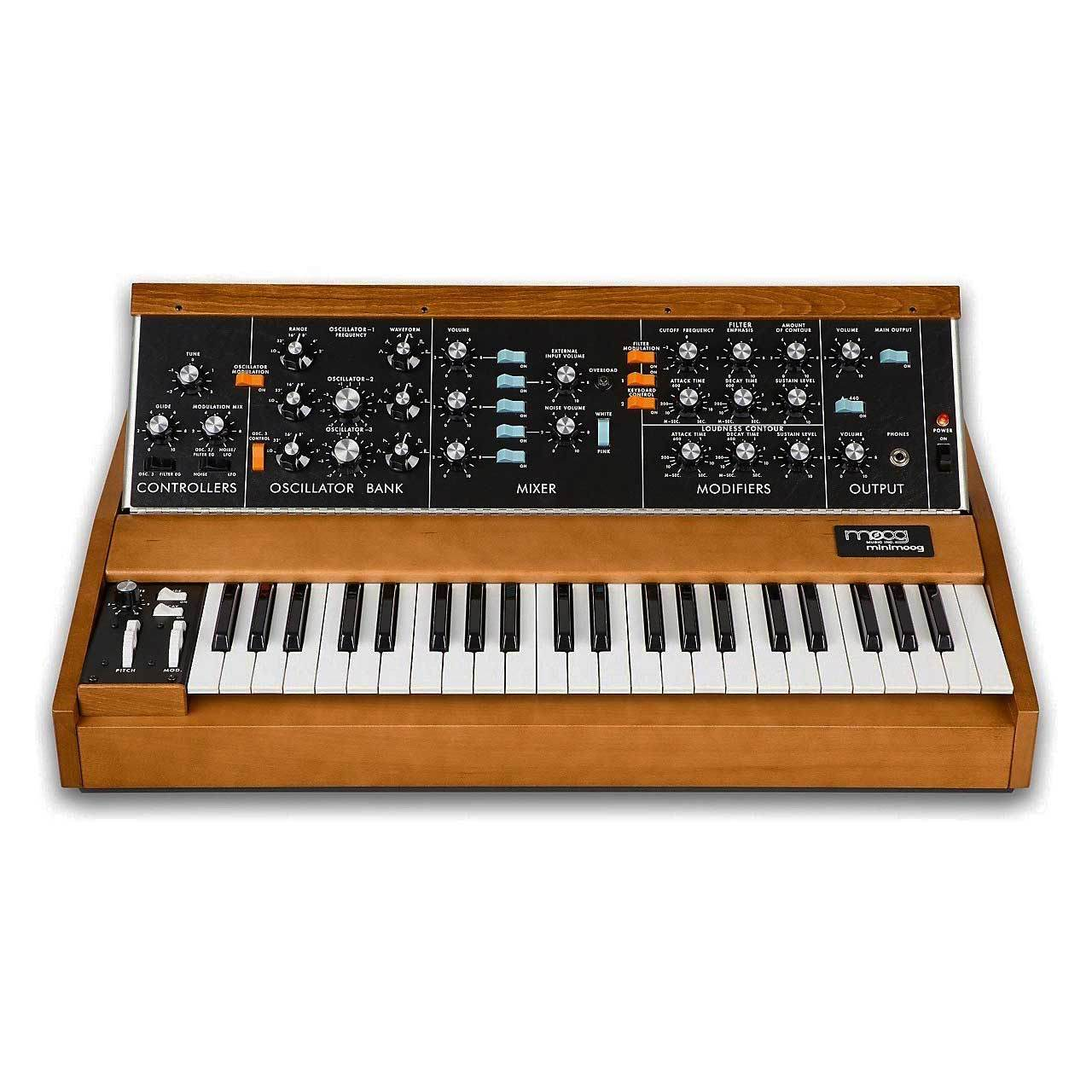 Keyboard Synthesizers - Moog Minimoog Model D - 3-oscillator Monophonic Analog Synthesizer