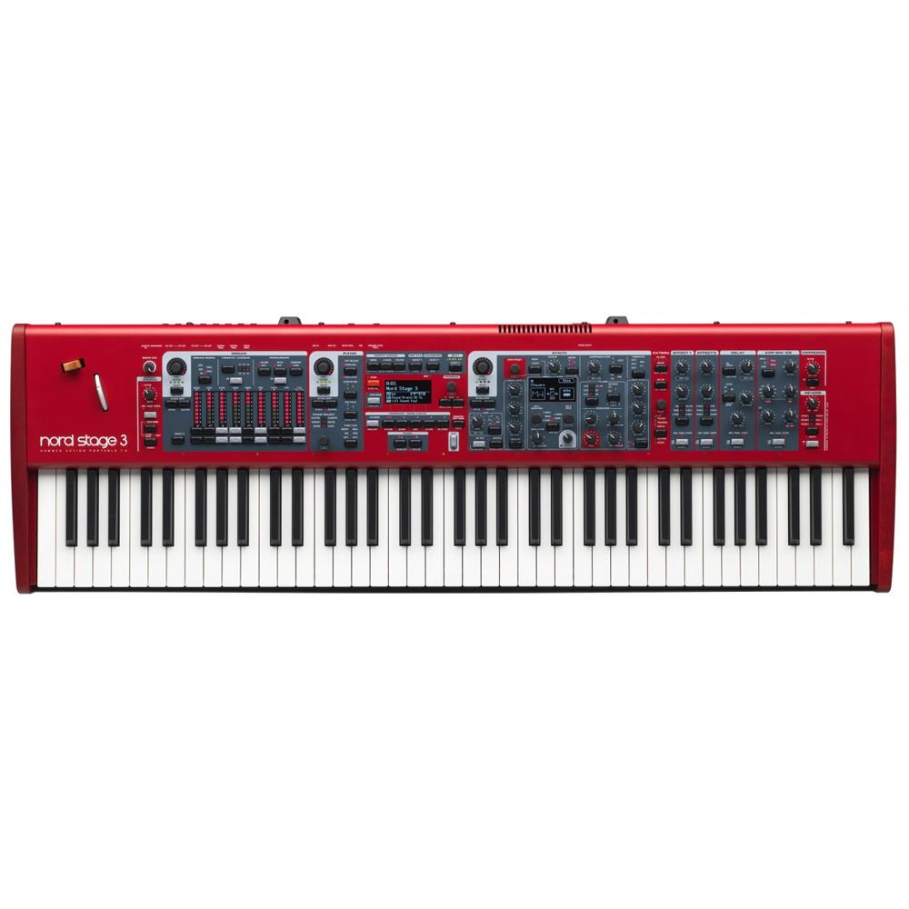 Keyboard Synthesizers - Nord Stage 3 HP76 Lightweight Hammer Action Portable Keybed