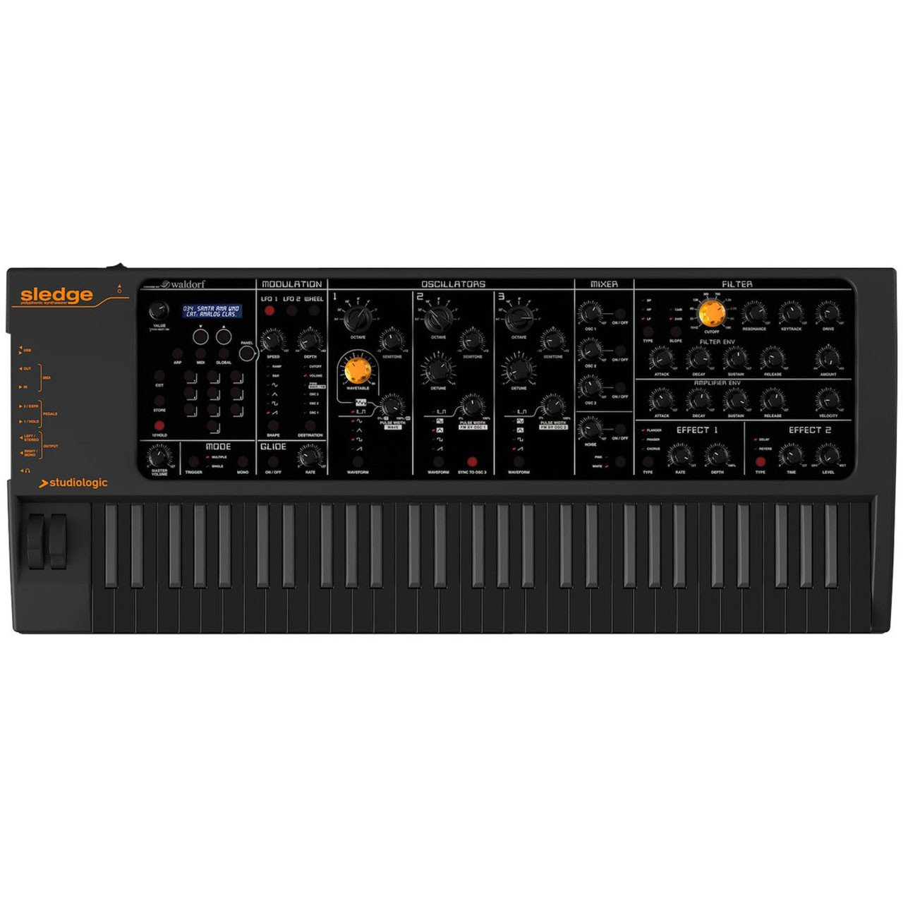 Keyboard Synthesizers - Studio Logic Sledge Black Edition Polyphonic Keyboard Synthesizer