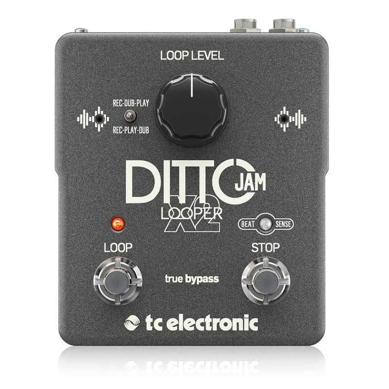 Loopers - TC Electronic Ditto Jam X2 2-switch Looper Pedal With Auto-Tempo Sync