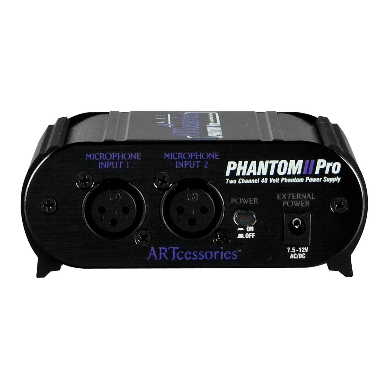 Microphone Accessories - ART Phantom II Pro Dual Ch. Phantom Power Supply