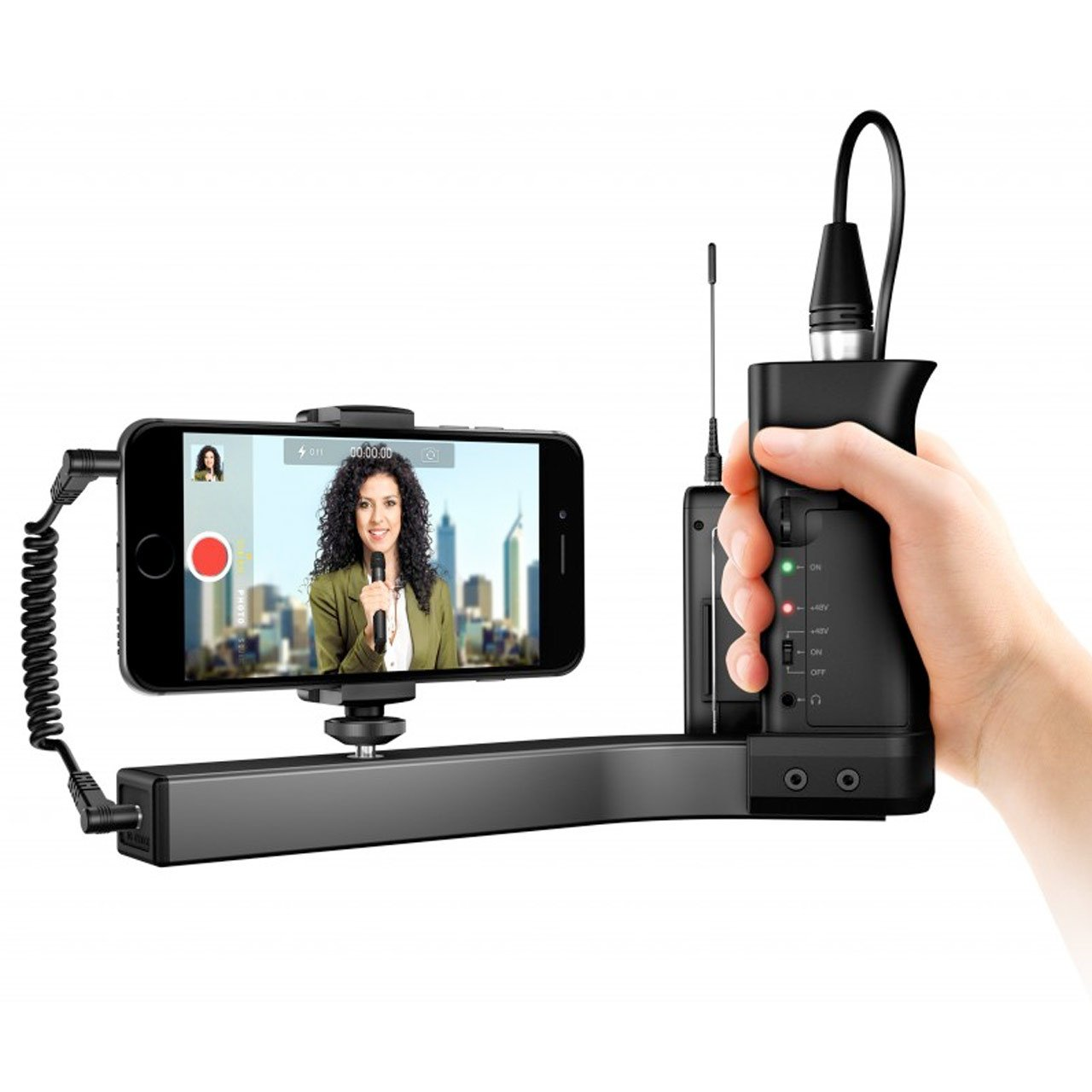 Microphone Accessories - IK Multimedia IKlip A/V Smartphone Broadcast Mount