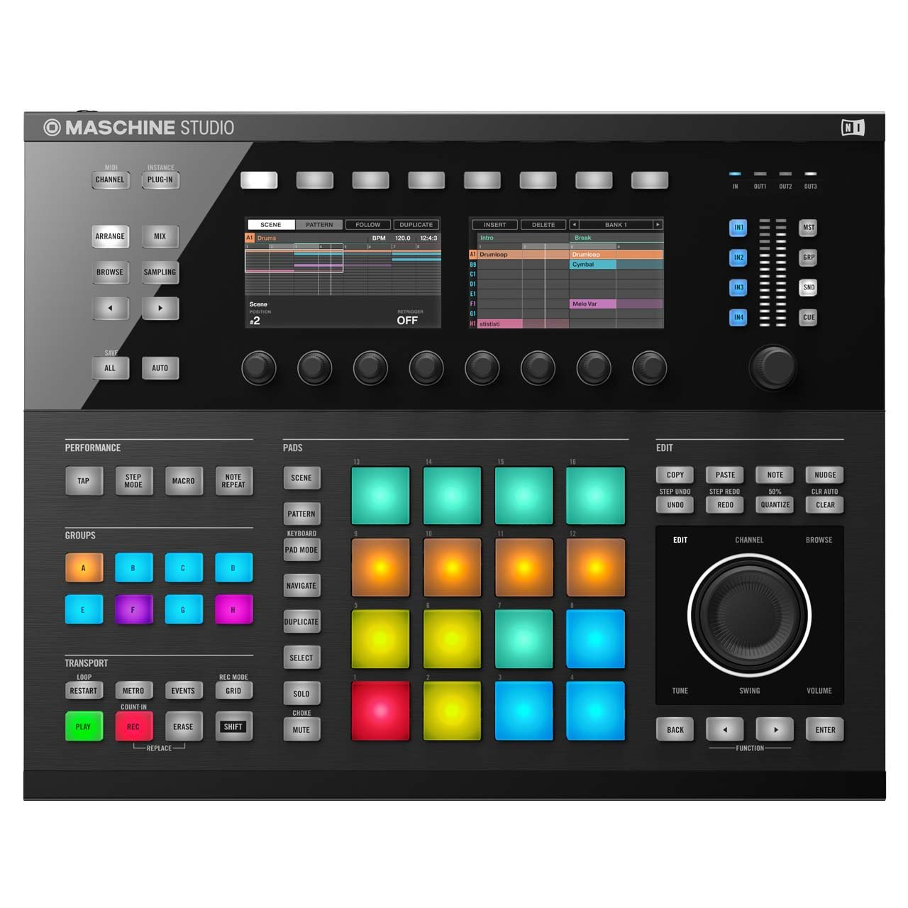 MIDI Controllers - Native Instruments MASCHINE STUDIO BLACK