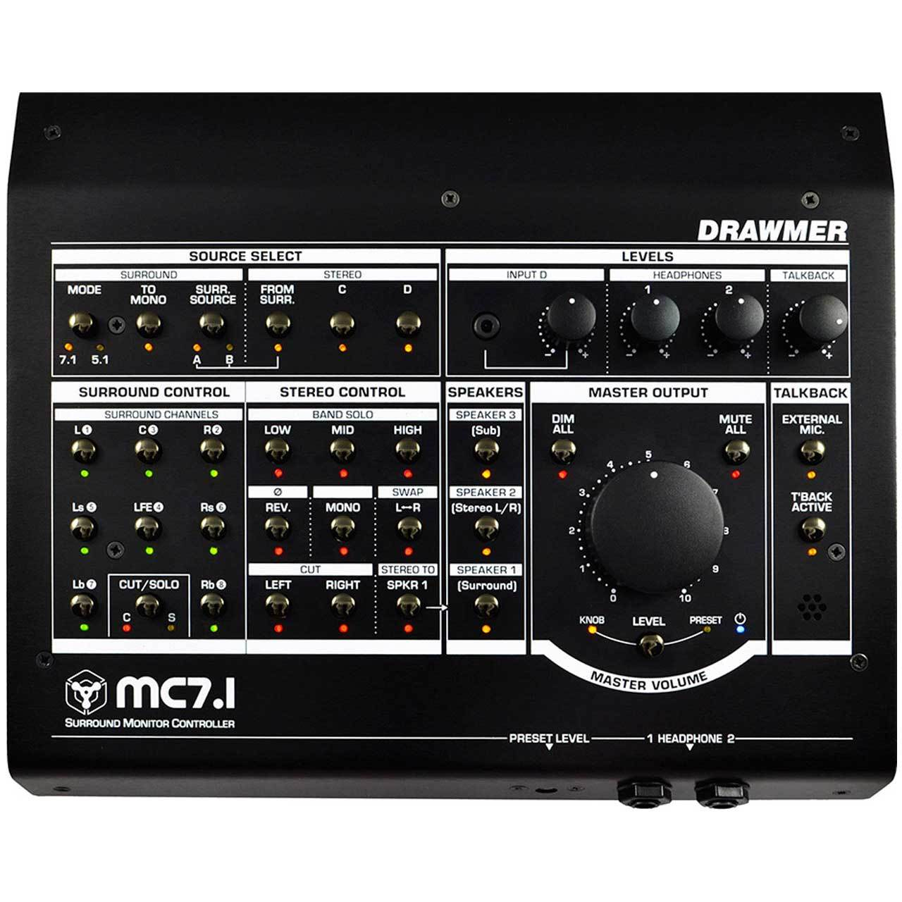 Monitor Controllers - Drawmer MC7.1 - Surround Monitor Controller