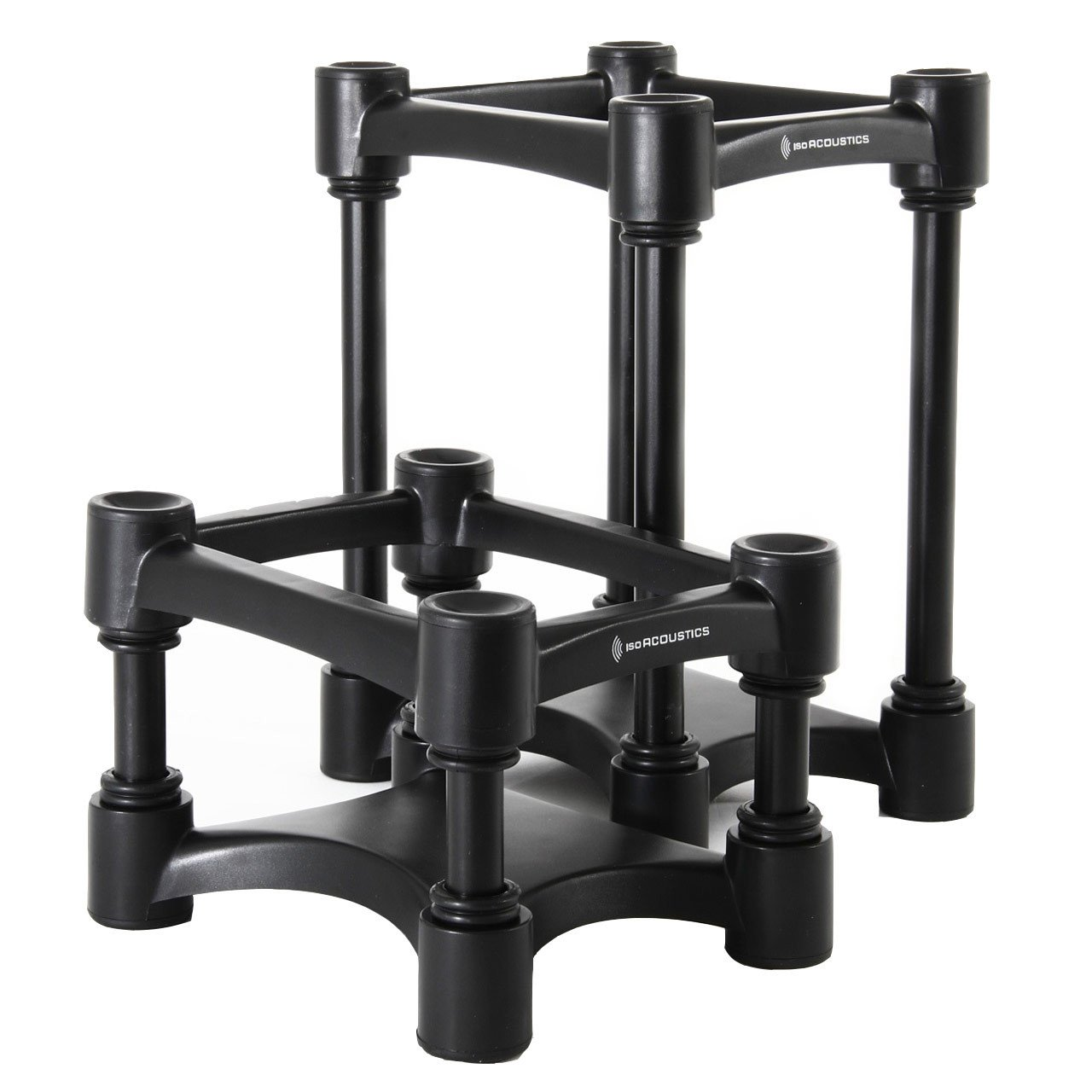 Monitor Isolation - IsoACOUSTICS ISO-L8R130 Adjustable Desktop Speaker Stands PAIR
