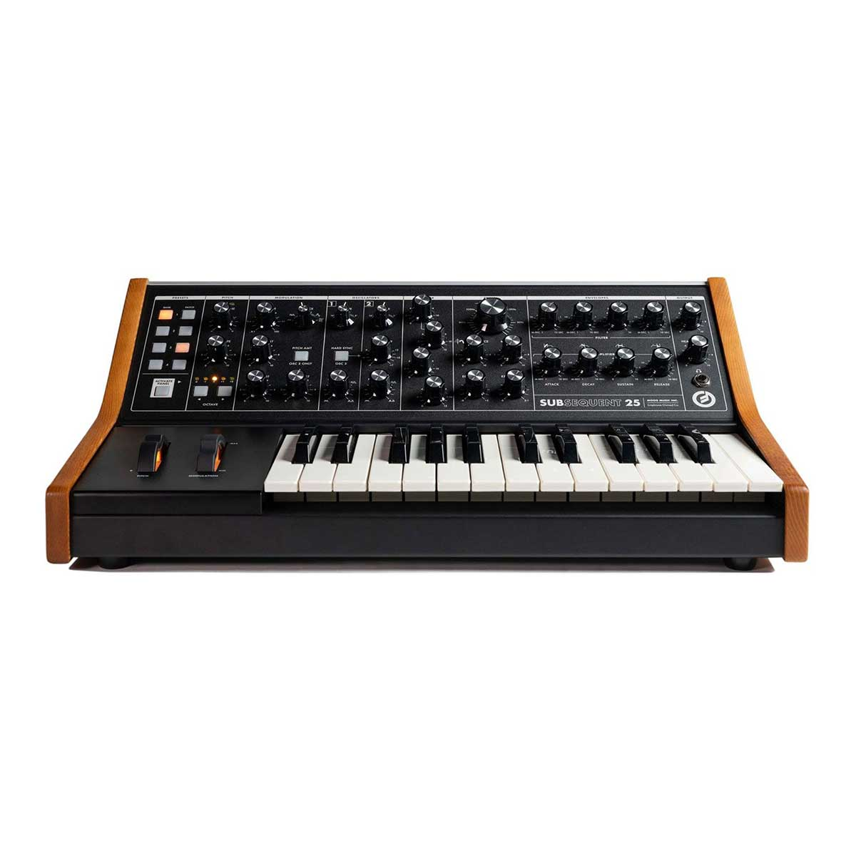 Moog Subsequent 25 paraphonic analog synthesizer Front