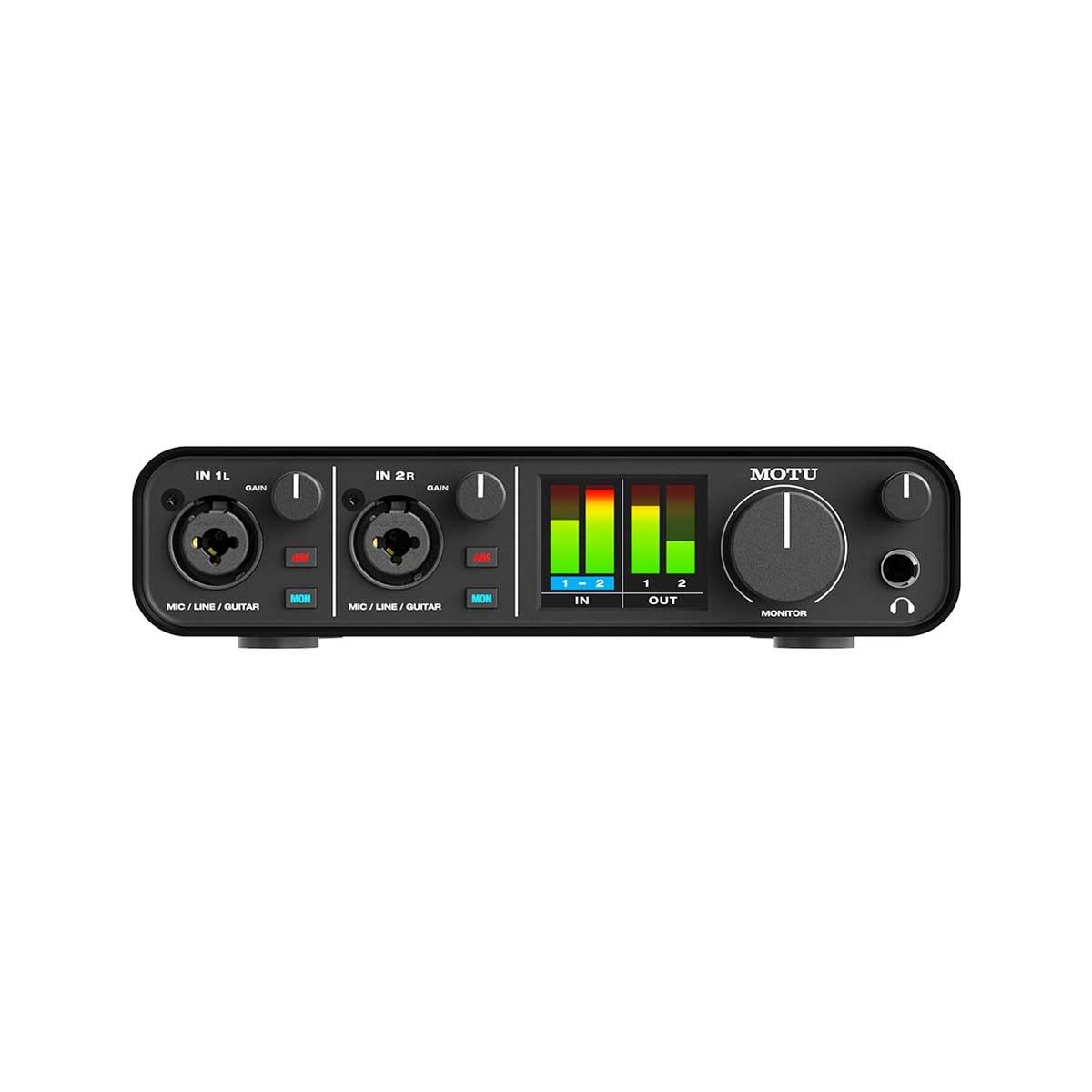 MOTU M2 USB-C Audio Interface Front