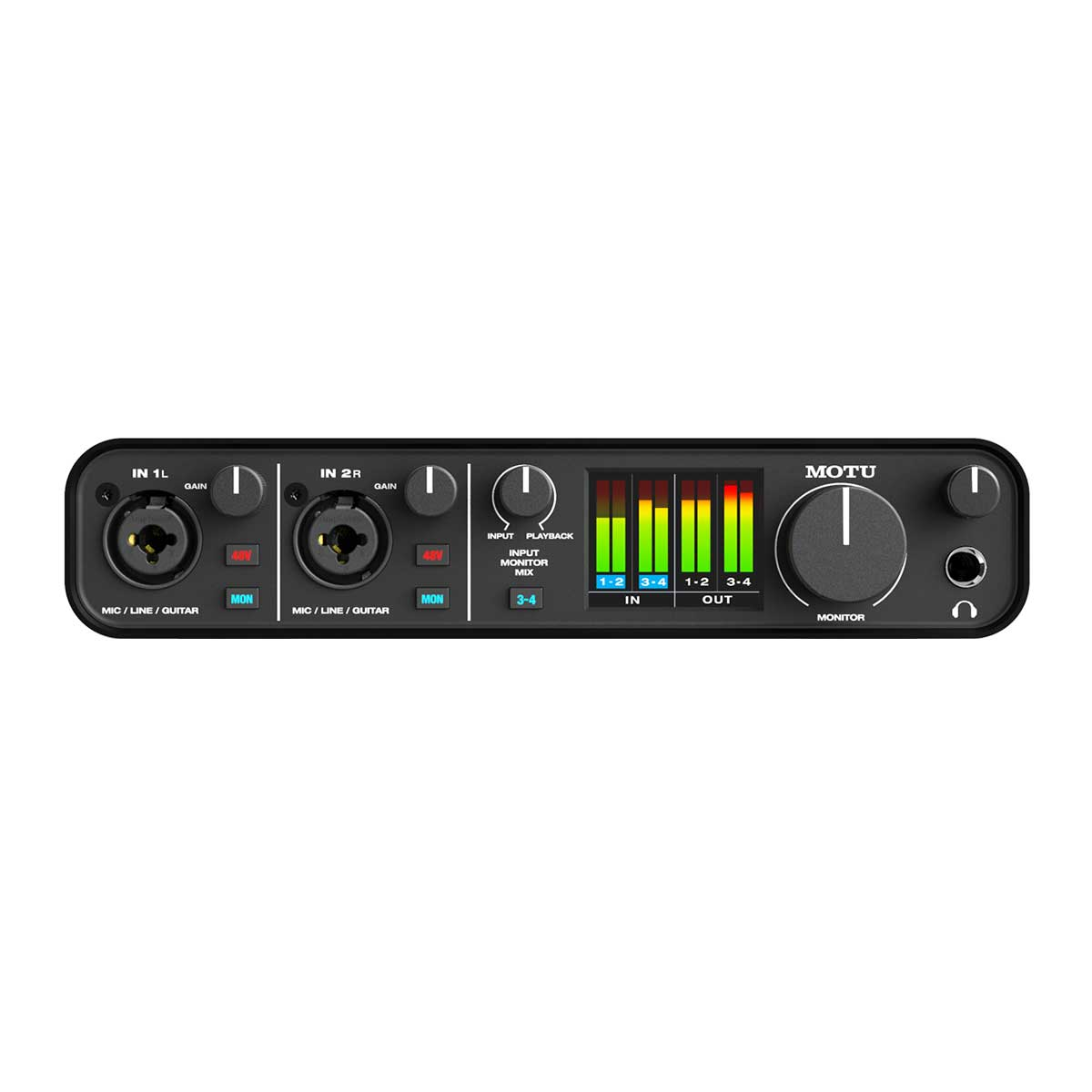 MOTU M4 USB-C Bus Powered Audio interface Front