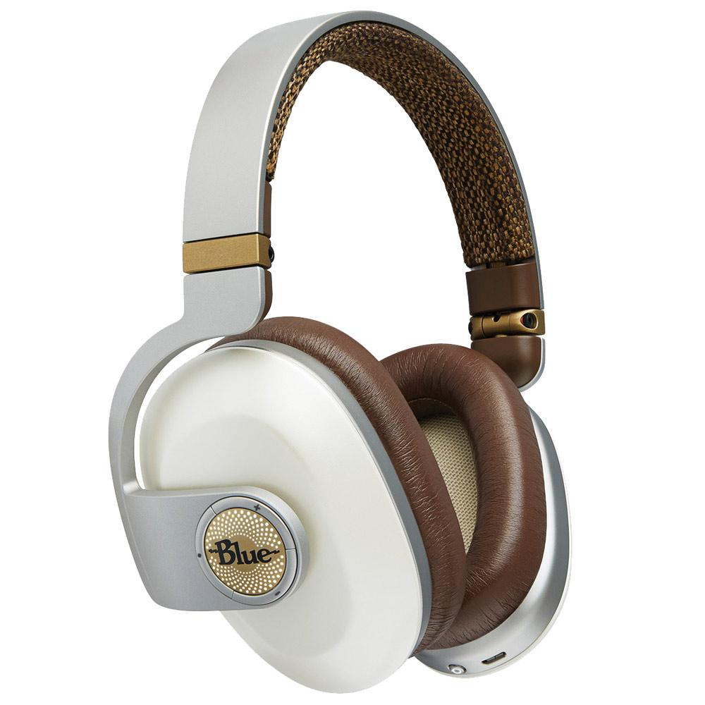 Noise Cancelling Headphones - Blue Satellite Premium Wireless Noise-Cancelling Headphones With Audiophile Amp - WHITE