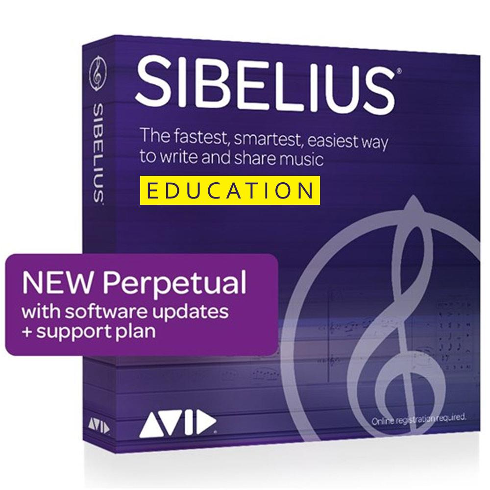 Notation Software - Avid Sibelius Perpetual License Educational EDU