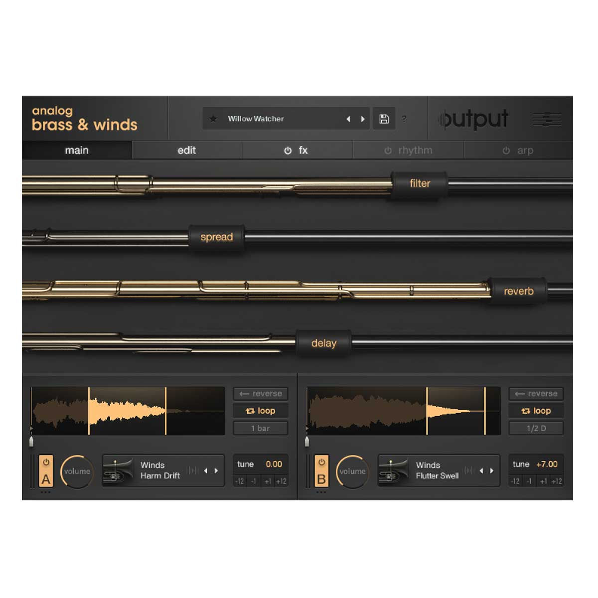 Output Analog Brass & Winds Kontakt Instrument