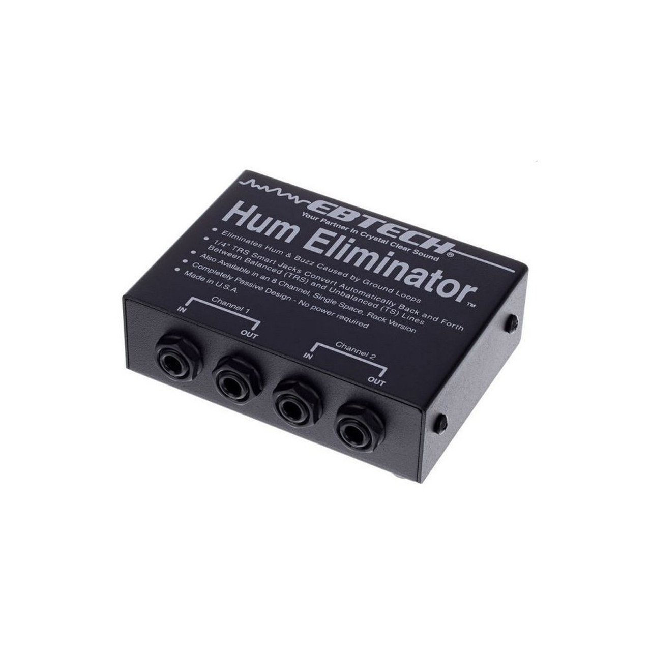 EBTech HE-2 - 2-channel Stereo Hum Eliminator w/ TRS Connectors