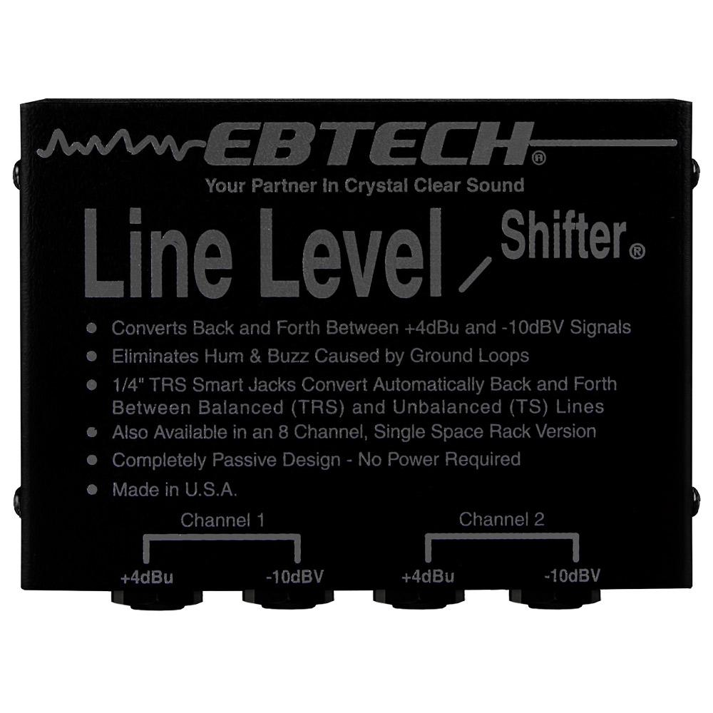 PA Accessories - EBTECH LINE LEVEL SHIFTER LLS-2 (2 Channel Box With TRS)