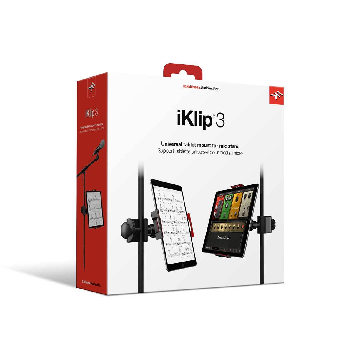 PA Accessories - IK Multimedia Iklip 3 Universal Stand Mount For Tablets And IPad