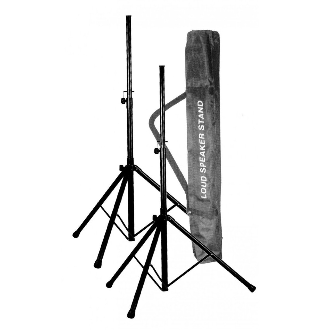 PA Accessories - UXL Deluxe Tubular All-Steel PA Loud Speaker Stands + Carry Bag Combo