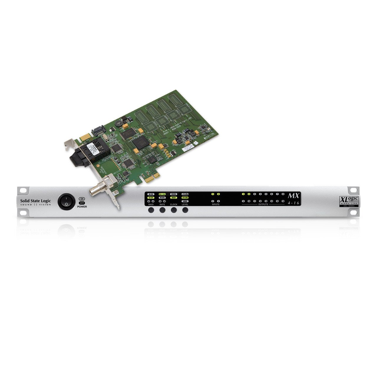 PCI/PCIe Audio Interfaces - SSL Alpha Link MX 4-16 IO Bundle With MadiXtreme 64